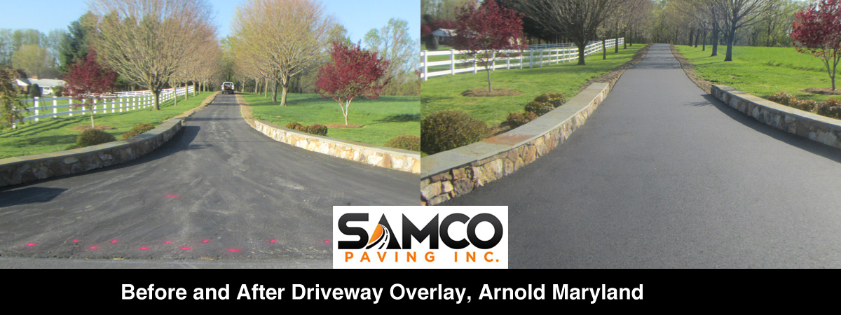Driveway Paving Overlay - Arnold, Maryland